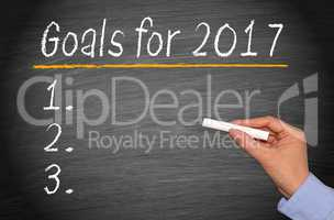 Goals for 2017 Checklist