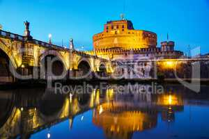 The Mausoleum of Hadrian (Castel Sant'Angelo) in Rome