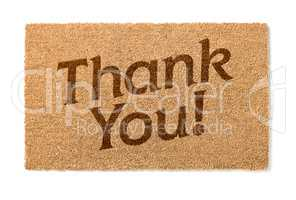 Thank You Welcome Mat On White
