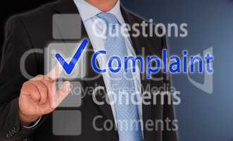 Complaint Questions Concerns Comments Touchscreen