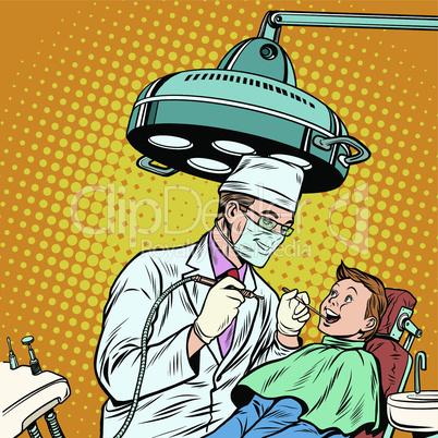 Dentist treats teeth boy