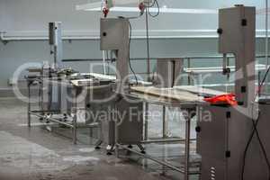 Worktop at meat factory