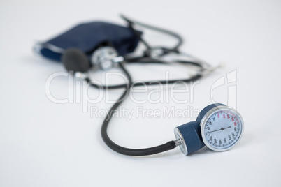 Close-up of blood pressure measuring equipment