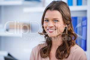 Beautiful woman smiling in clinic