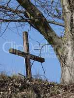 Lonely cross on the hill