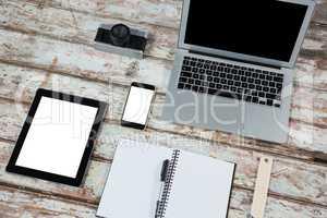 Laptop, digital tablet, smartphone with camera