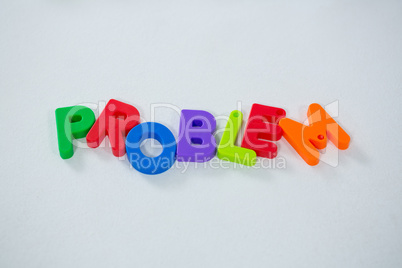 Word problem isolated on white background