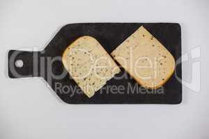 Dutch gouda cheese on chopping board