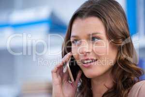 Beautiful woman talking on mobile phone