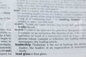Definition of leadership in dictionary