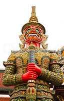 Guardian Statue at Wat Phra Kaew Grand Palace Bangkok,Thailand.