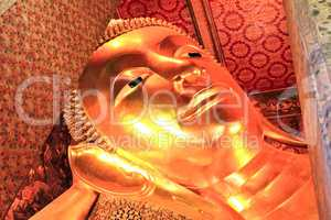 Reclining Buddha statue in Thailand Buddha Temple Wat Pho , Asia