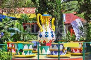 Children's carousel in the amusement Park.