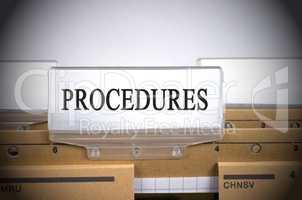 Procedures Register Folder Index