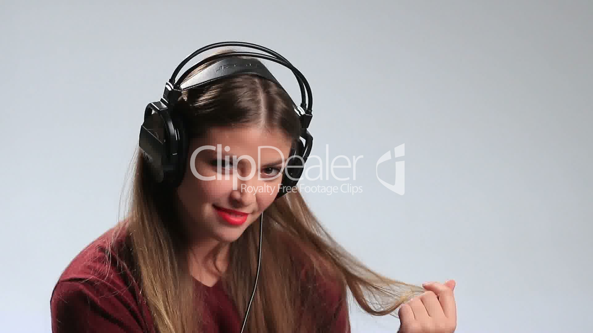 Sexy Woman Wearing Headphones And Listening Music Royalty-Free Video And Stock Footage-2512