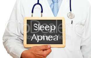 Doctor with Sleep Apnea Chalkboard