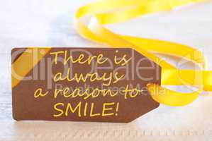 Easter Label, Quote Always Reason To Smile