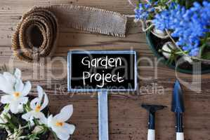 Spring Flowers, Sign, Text Garden Project