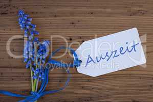 Srping Grape Hyacinth, Label, Auszeit Means Downtime
