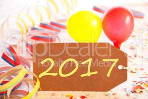Party Label, Balloon, Streamer, Text 2017