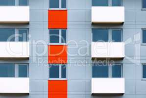 Windows and balconies of new residential building