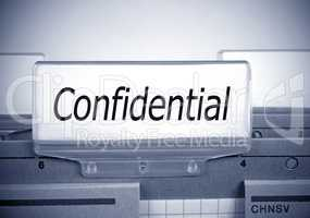 Confidential Register Folder Index in the Office