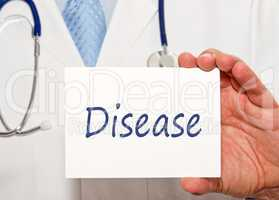 Doctor with Disease Sign
