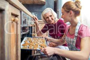 Making Christmas cookies