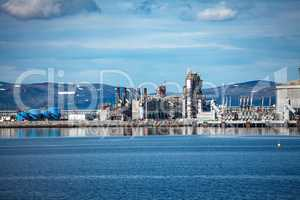 Hammerfest Island Muolkkut Northern Norway, gas processing plant