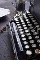 Antique typewriter vintage filter