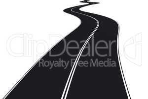 Curved road, 3d illustration