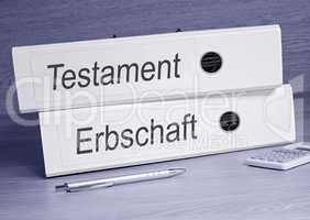 Testament und Erbschaft Ordner