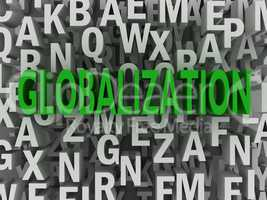 3d Globalization word cloud concept