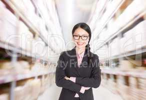 Store manager in storehouse