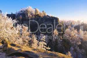 Elbsandsteingebirge im Winter  - Elbe sandstone mountains in winter