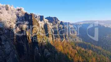 Elbsandsteingebirge im Winter Winterberg - Elbe sandstone mountains in winter, Winterberg
