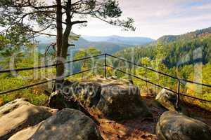 Kleinsteinaussicht im Elbsandsteingebirge - viewpoint Kleinsteinaussicht in Elbe Sandstone Mountains