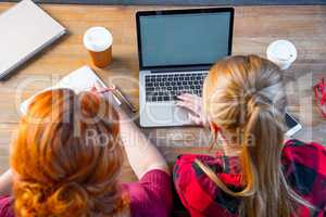 Women using laptop