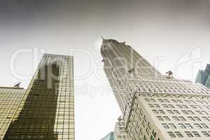 Bottom view of the Chrysler Building