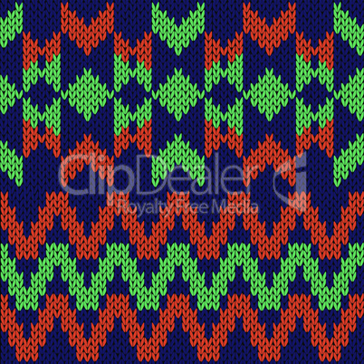 Geometrical seamless knitted pattern