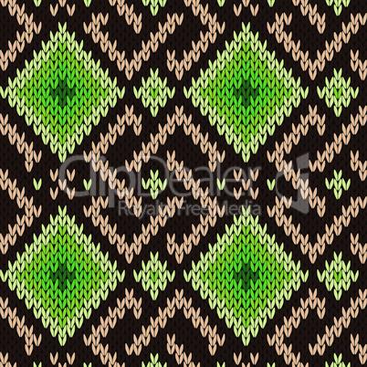 Ornamental seamless knitted pattern