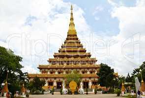 Temple in Thailand is named Phra-Mahathat-Kaen-Nakhon, Khon Kaen