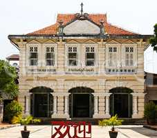 Phuket Thai Hua School Museum on a beautiful colonial building.