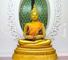 Buddha statue in temple, Thailand.