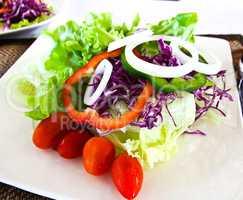 Healthy vegetables salad.