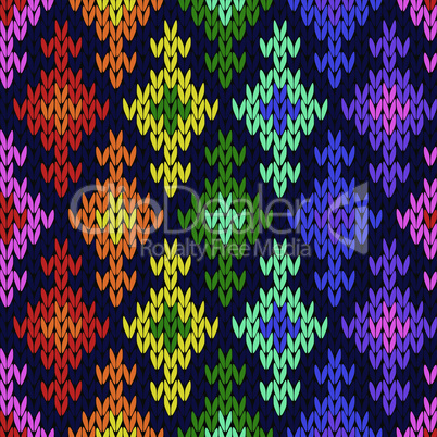 Ornate knitted seamless pattern