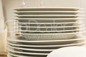 Clean plates isolated on white