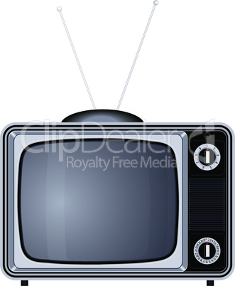 tv set retro old vintage device vector illustration