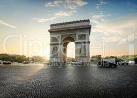 Traffic near Arc de Triomphe