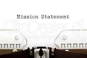Mission Statement On Typewriter